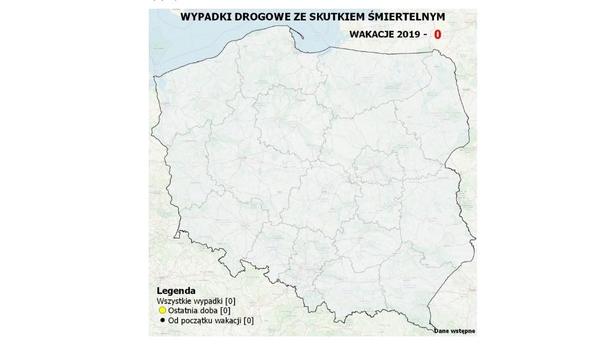 mapa śmierci wypadki drogowe policja - policja.pl