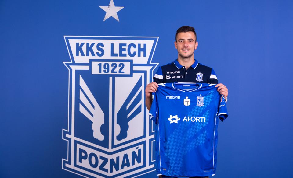 Djordje Crnomarković piłkarzem Lecha - Lech Poznań/Przemysław Szyszka