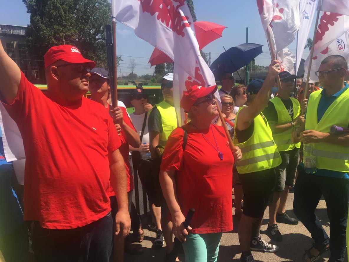 pikieta enea hetmańska solidarność poznań protest