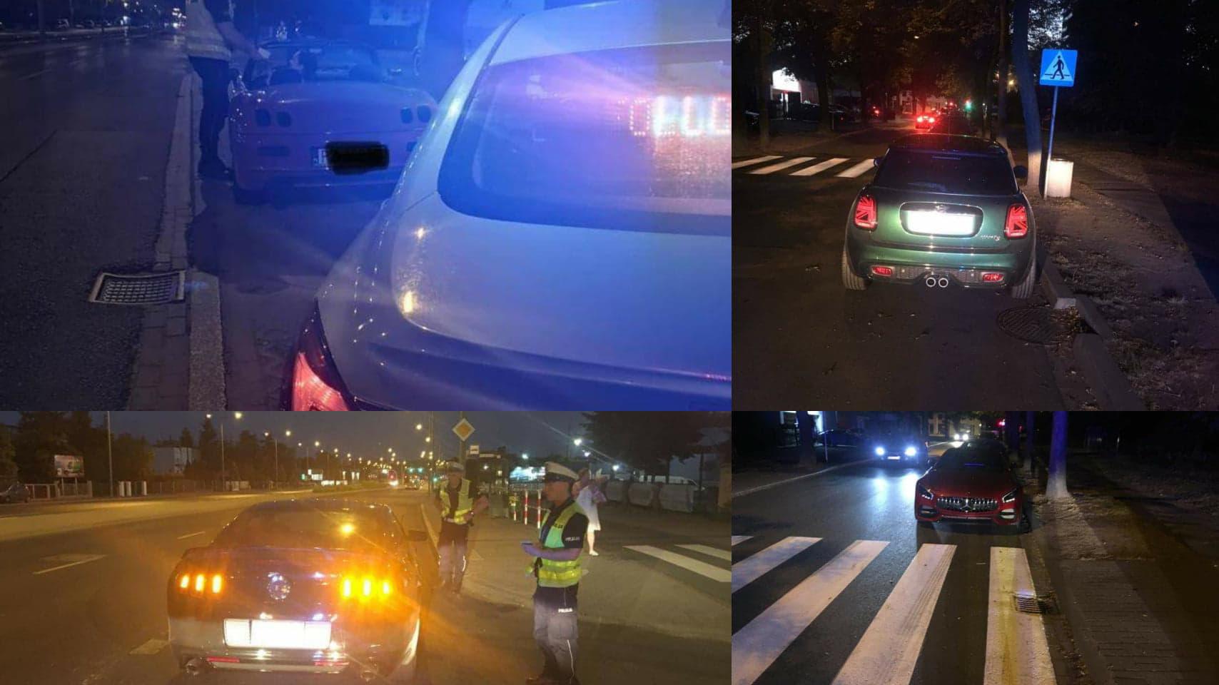 nielegalne wyścigi nocne noc bułgarska policja  - Twitter: Andrzej Borowiak