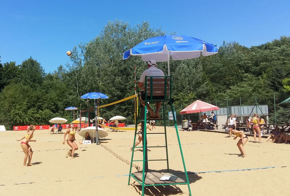 siatkówka plażowa na ratajach - Magdalena Konieczna