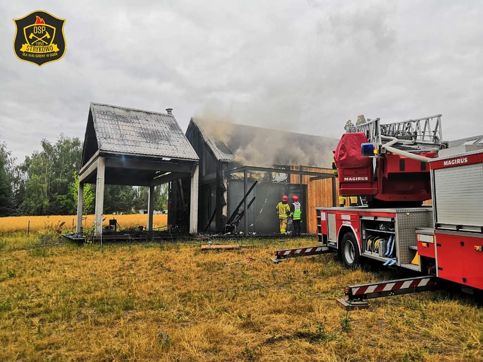 pożar domu - OSP Strykowo