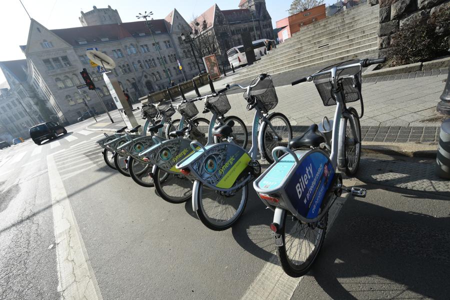 rowery miejskie poznań - Wojtek Wardejn