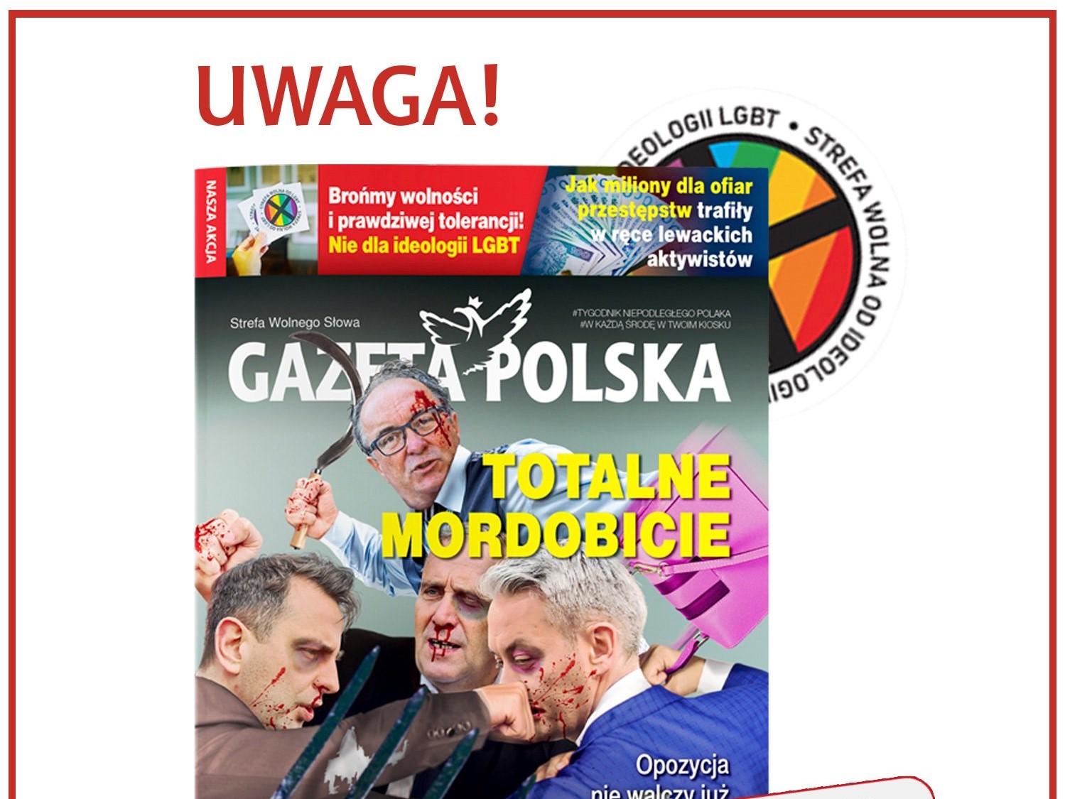okładka gazety polskiej LGBT - TT: Gazeta Polska