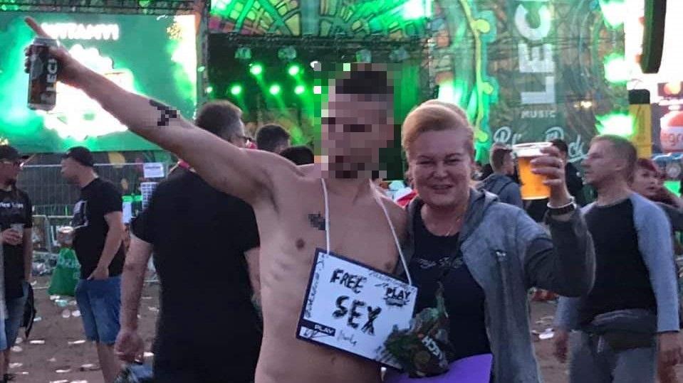 Marzena Wodzińska z PO na Pol&Rock Festiwal - FB: Marzena Wodzińska