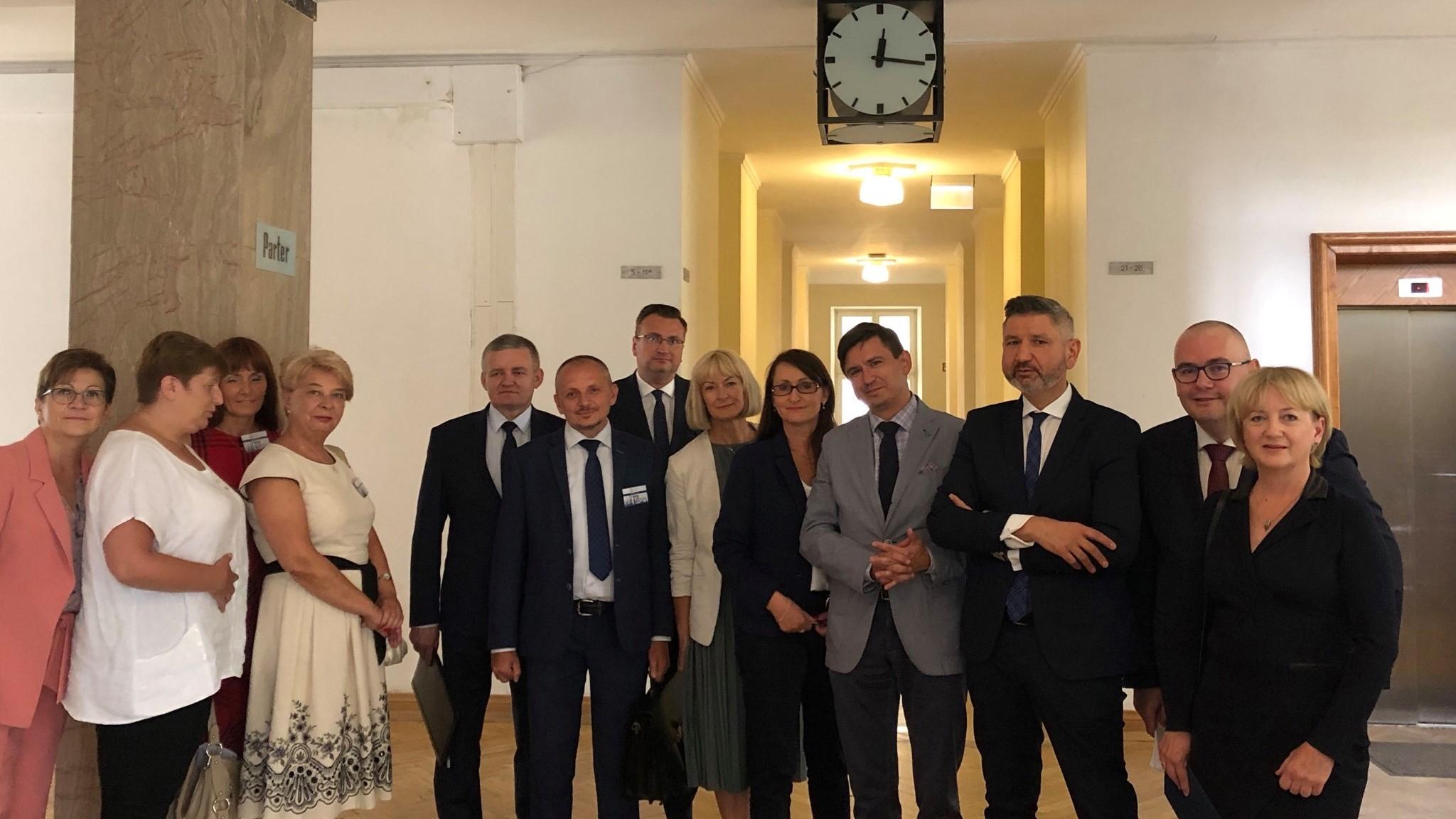 spotkanie z ministrem w sprawie subwencji warszawa  - Piotr Kowalczuk