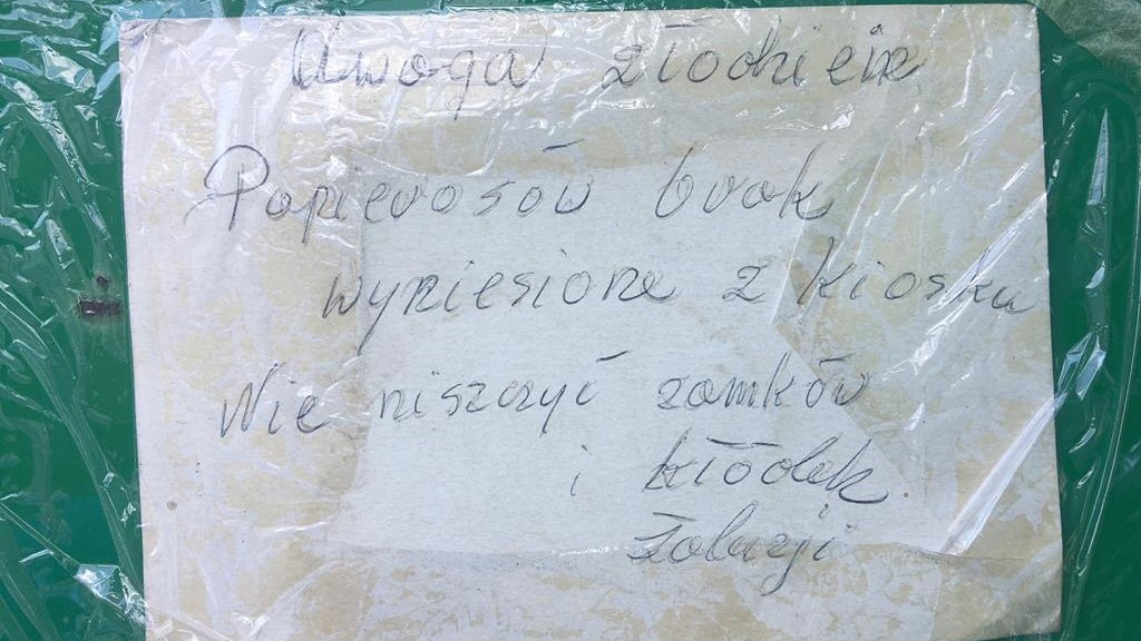 kiosk lądek papierosy okradziony - Sławomir Zasadzki