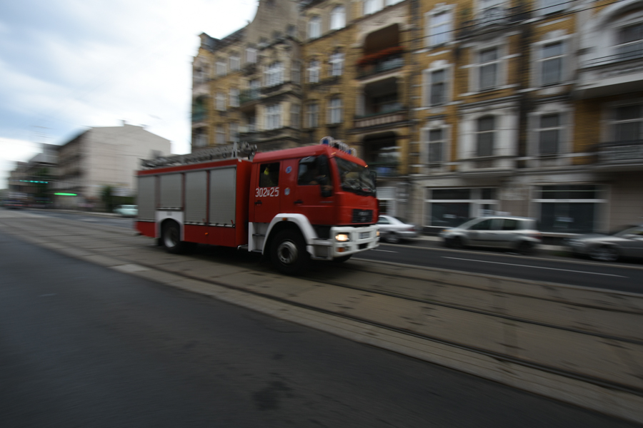 wóz strażacki straż pożarna wypadek - Wojtek Wardejn