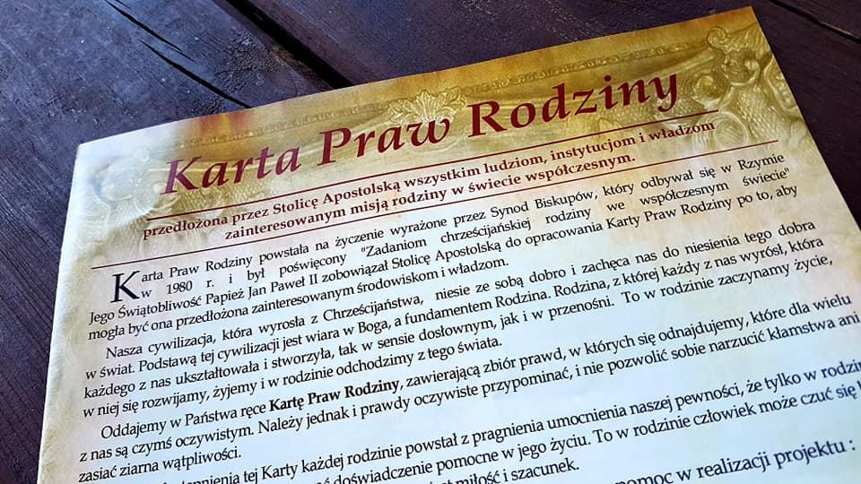 karta praw rodziny - FB: Grzegorz Król