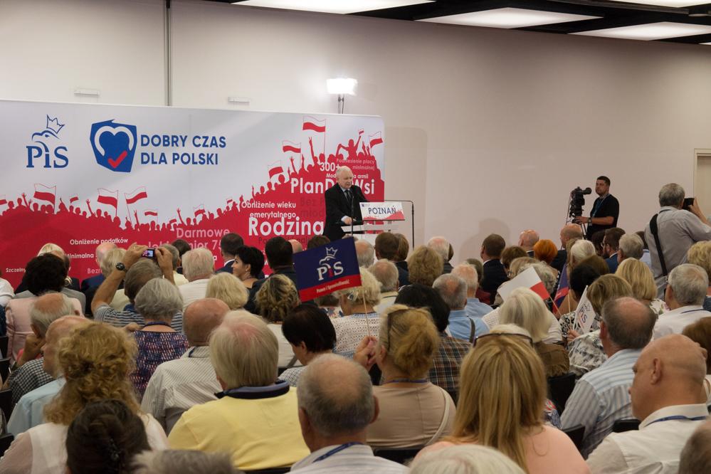 Konwencja PiS w Poznaniu Jadwiga Emilewicz Jarosław Kaczyński - Leon Bielewicz