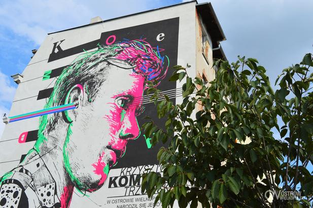 Krzysztof Komeda mural Ostrów Wielkopolski - UM Ostrów Wielkopolski