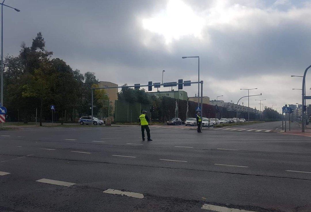policja skrzyżowania  - Tomek - Facebook/Gdzie Jest Wypadek w Poznaniu