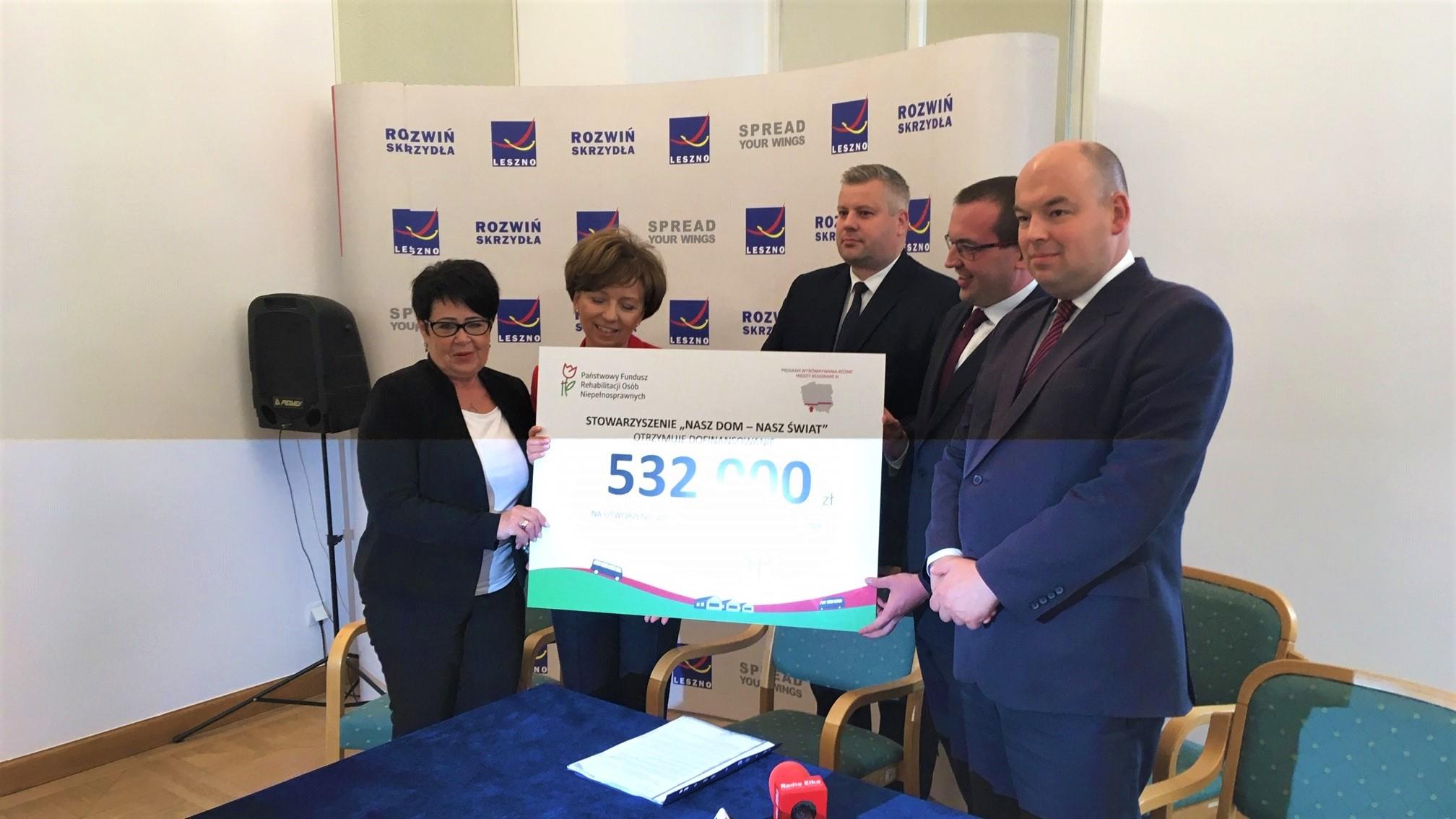 Ponad pół miliona złotych Państwowy Fundusz Rehabilitacji Osób Niepełnosprawnych przekazał na stworzenie w Lesznie warsztatów terapii zajęciowej dla pełnoletnich niepełnosprawnych - Jacek Marciniak