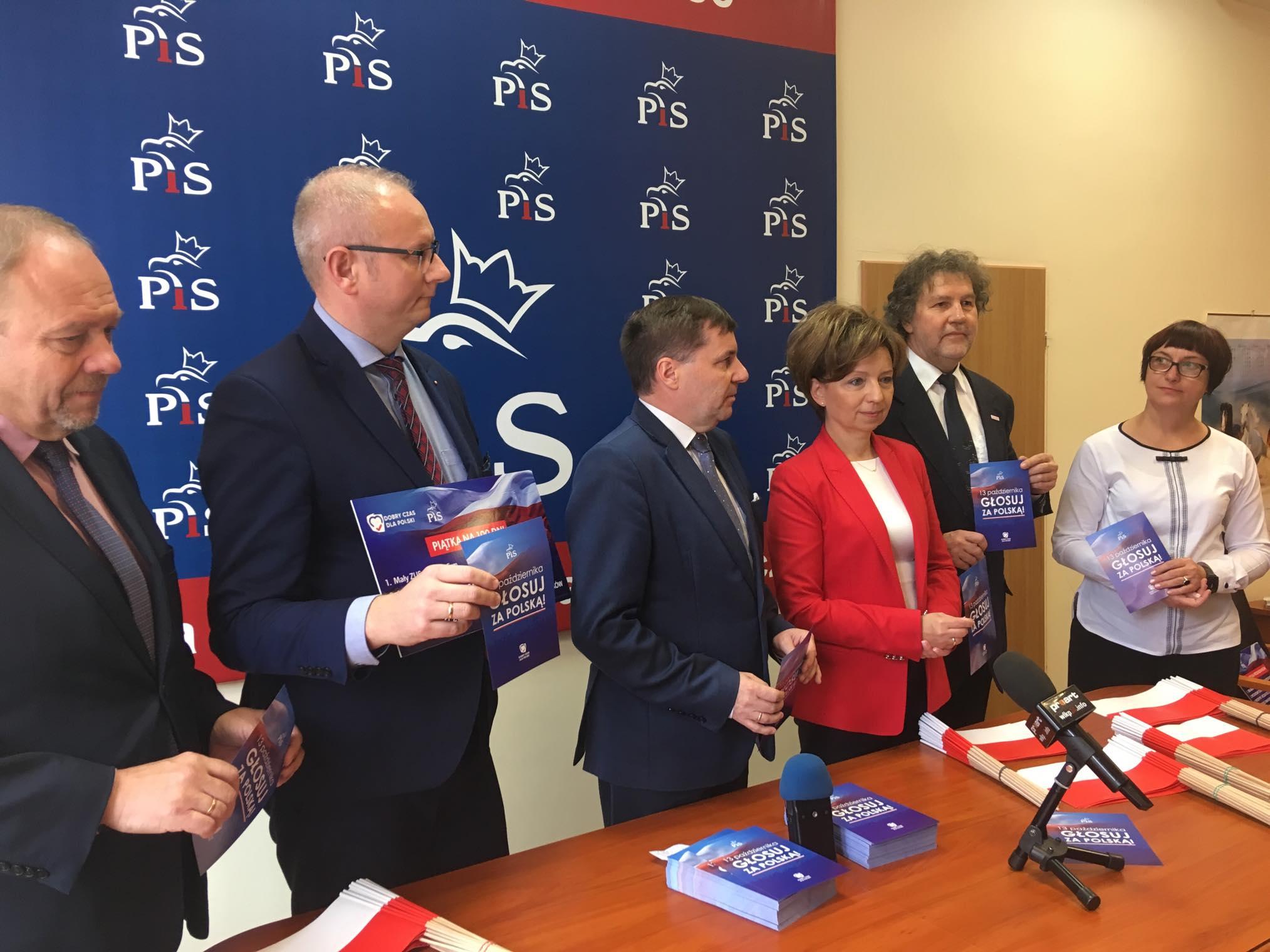 Tomasz Ławniczak PiS kampania - Danuta Synkiewicz