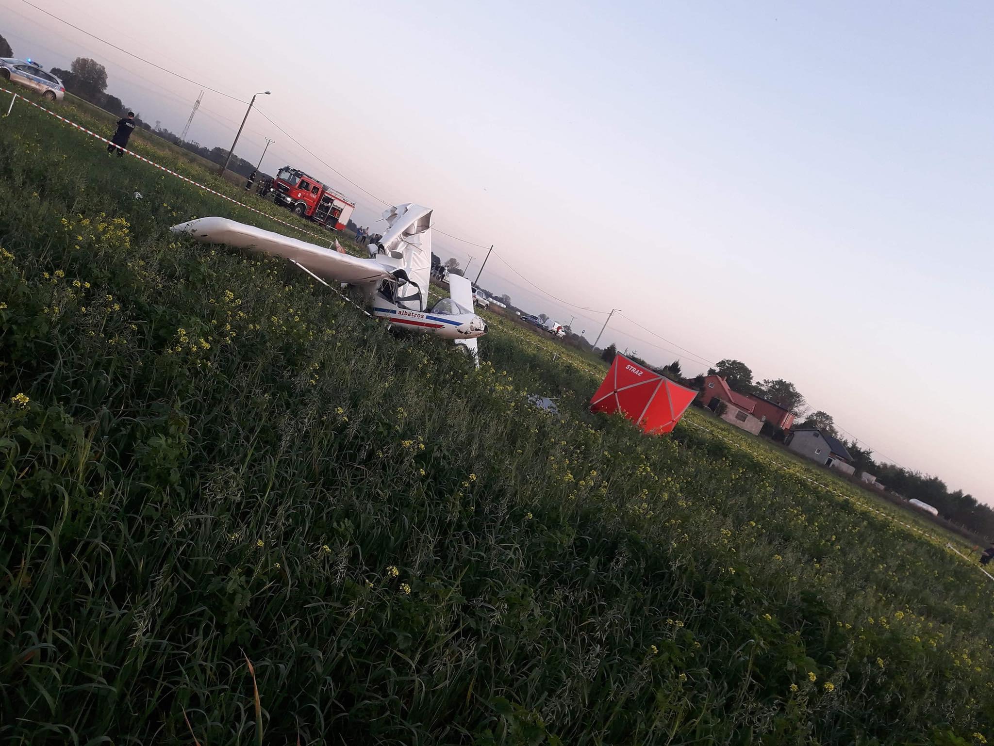 wypadek awionetki koło kłodawy -  Ochotnicza Straż Pożarna w Kłodawie