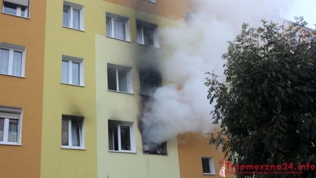 pożar Trzemeszno   - Trzemeszno24.info