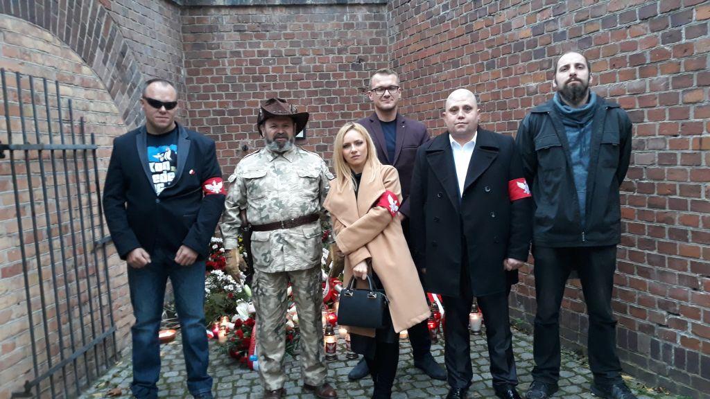 Delegacja Ruchu Narodowego Poznań oraz Polskiej Ligi Obrony Terytorialnej