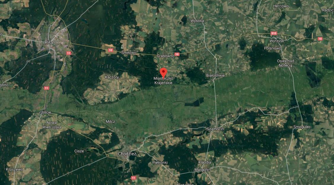 mapa Miasteczko Krajeńskie  - Google maps