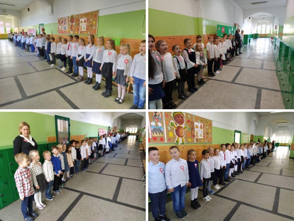 śpiewali hymn w szkole - Szkoła Podstawowa nr 26 im. Ryszarda Berwińskiego w Poznaniu