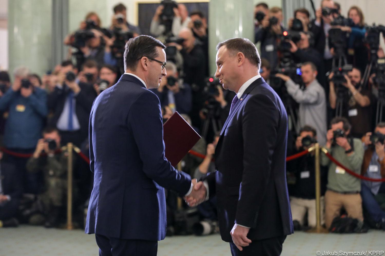 andrzej duda mateusz morawiecki zaprzysiężenie rządu - Jakub Szymczuk - KPRP