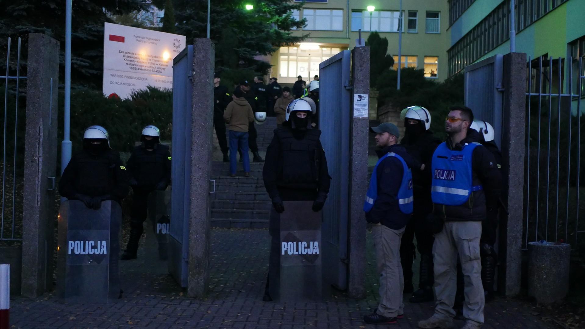zamieszki konin adam c chuligani policja manifestacja - Sławomir Zasadzki - Radio Poznań