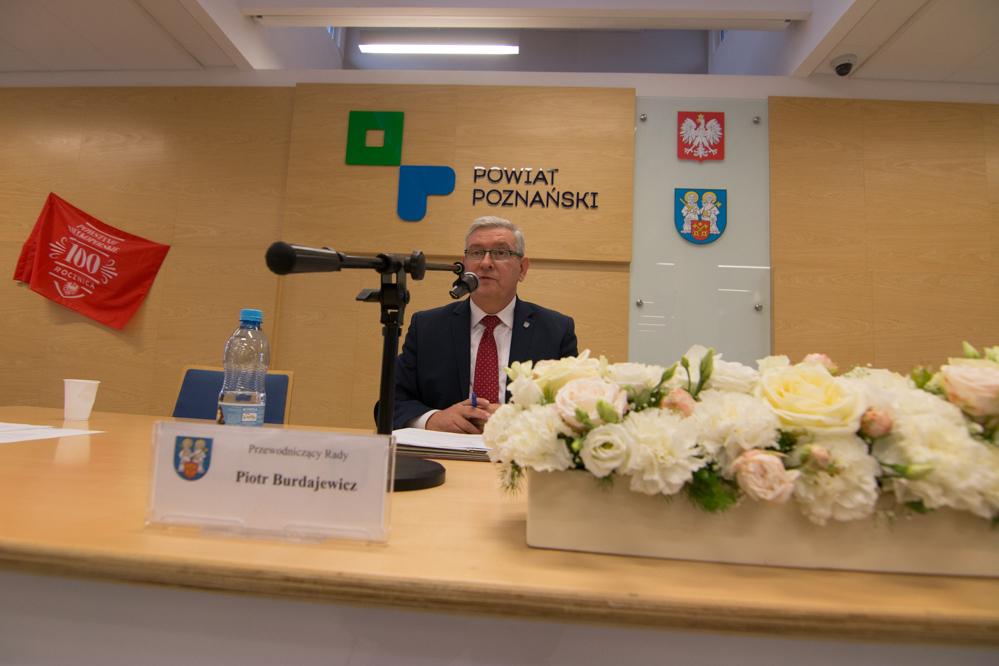 Przewodniczący Rady Powiatu Piotr Burdajewicz - Wojtek Wardejn