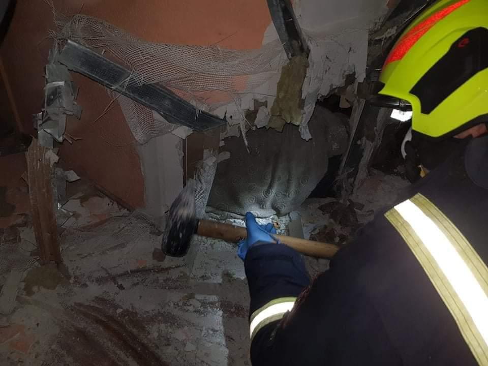 mężczyzna zakleszczony w łazience rogoźno -  OSP Rogoźno Facebook