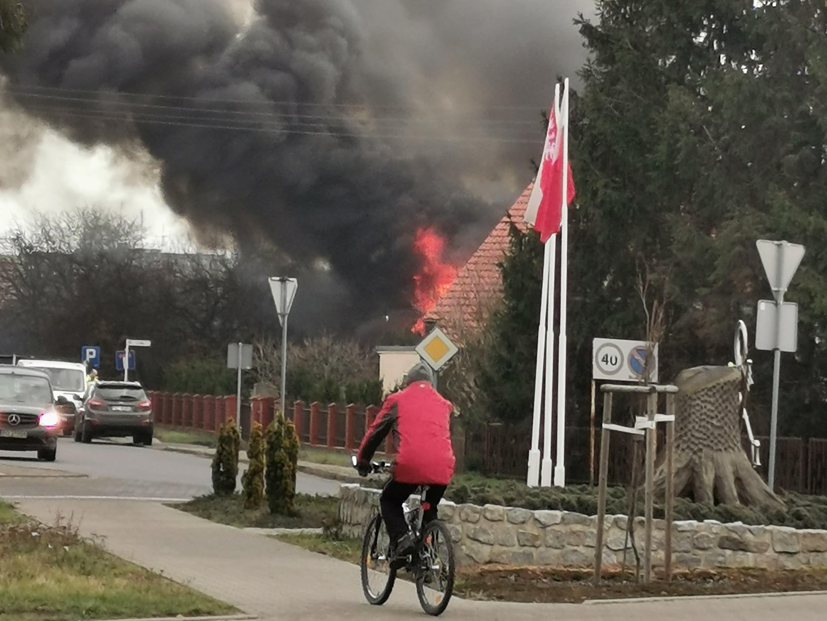 pożar domu pniewy - Słuchacz