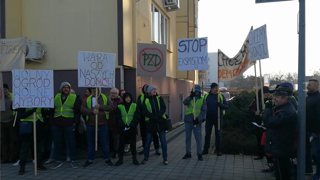 szafirek protest ogrody działkowe  - Krzysztof Polasik