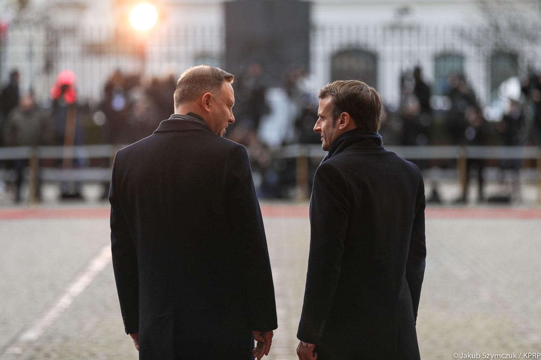 Duda Macron - Jakub Szymczuk/KPRP