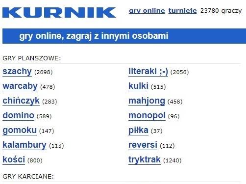 kurnik portal z grami - Screen: www.kurnik.pl