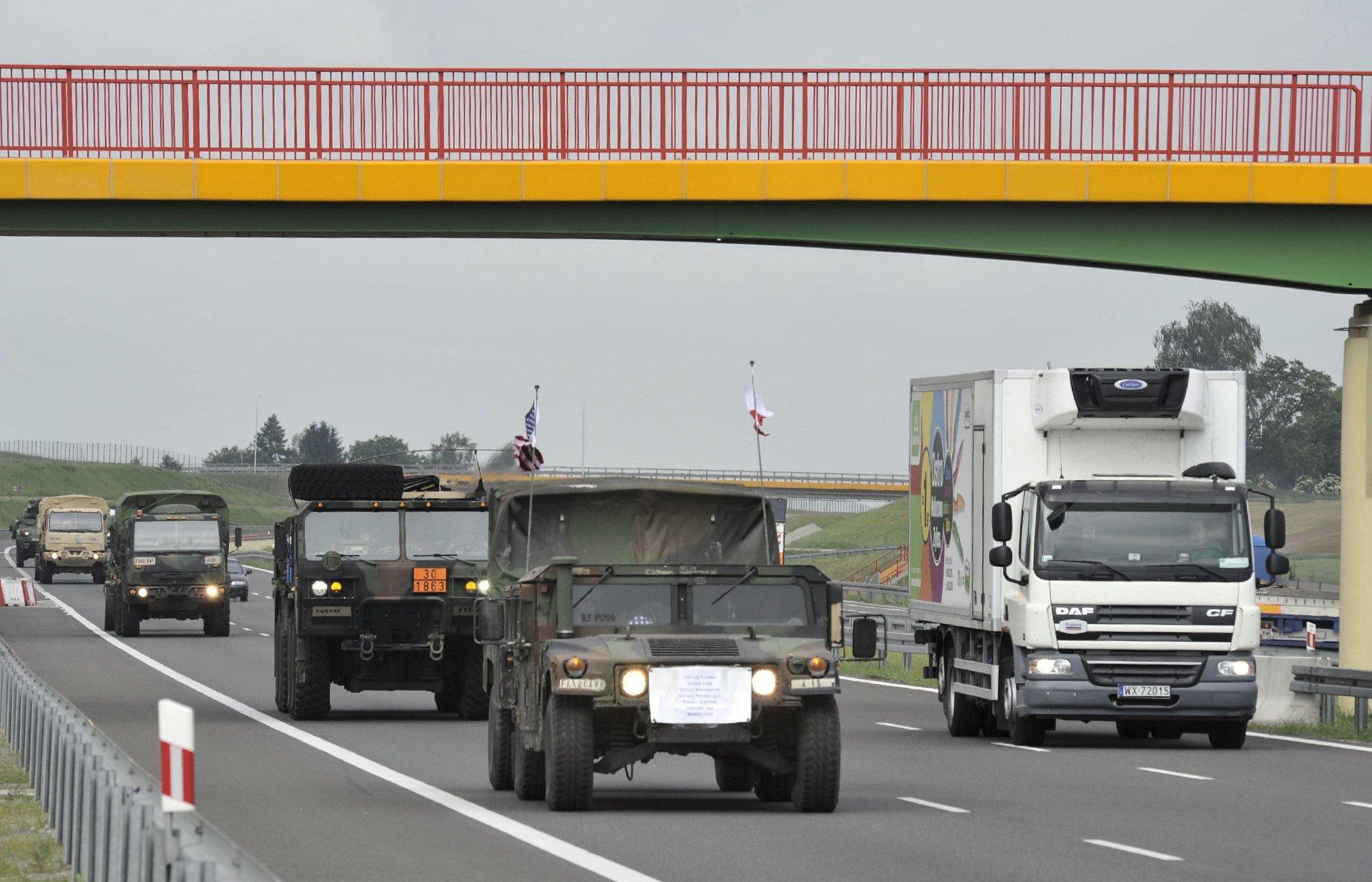 gddkia armia wojsko konwój defender - GDDKiA