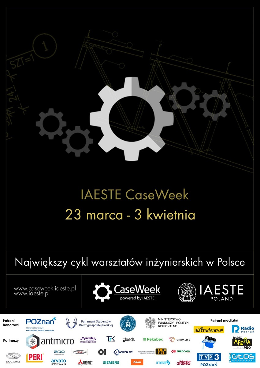 Plakat IAESTE CaseWeek 2020 - Politechnika Poznańska(1) - Materiały prasowe