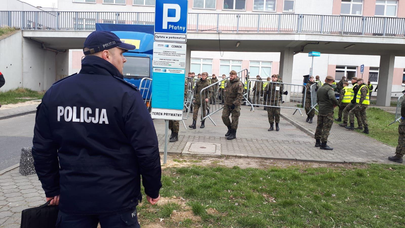 strefa zero szpital zakaźny strusia  - Wielkopolska Policja