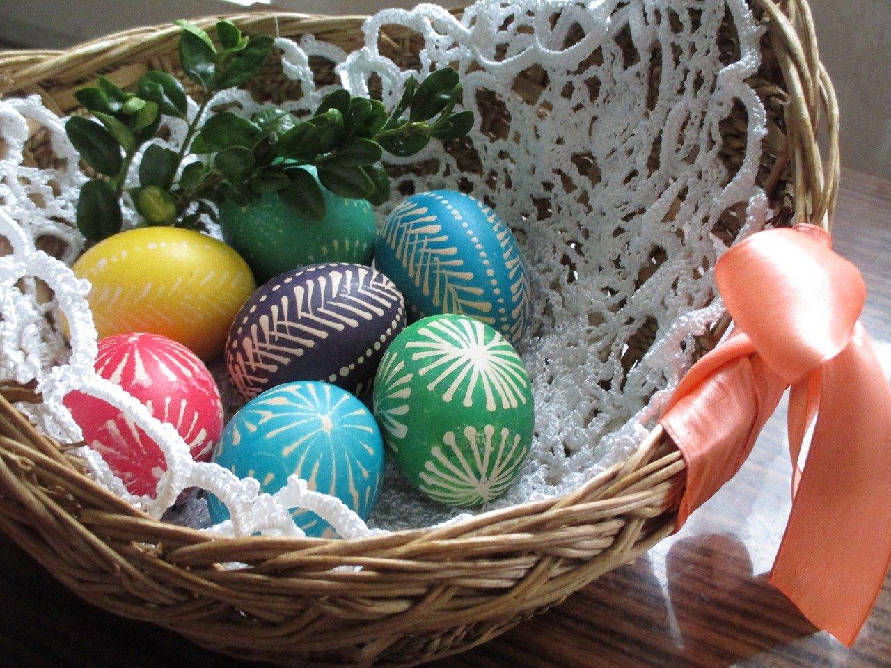 koszyk wielkanocny jajka - Pixabay