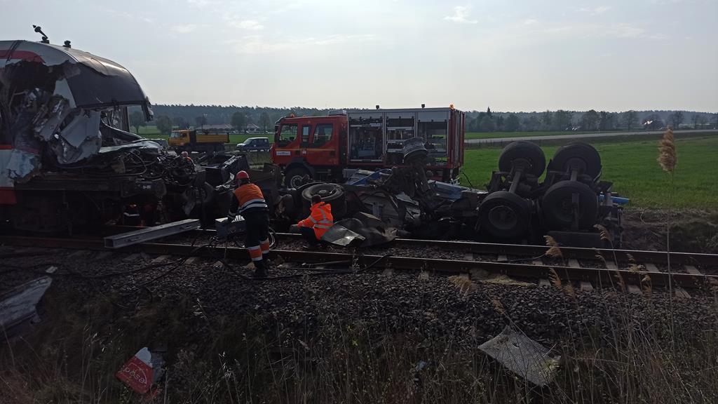 wypadek pociąg z poznania do wągrowca  - Bartosz Garczyński