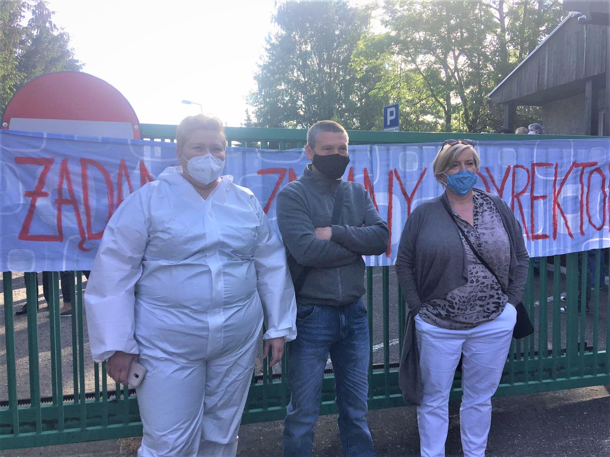 protest DPS Kalisz - Danuta Synkiewicz