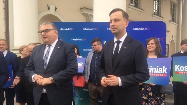 W Kosiniak Kamysz w Kaliszu kampania prez.  - Danuta Synkiewicz