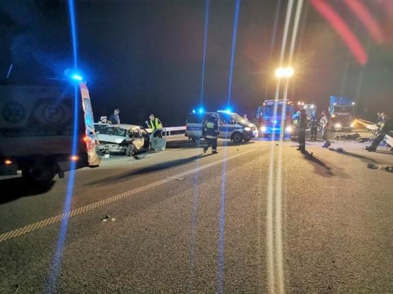 wypadek S5 - KM PSP Leszno