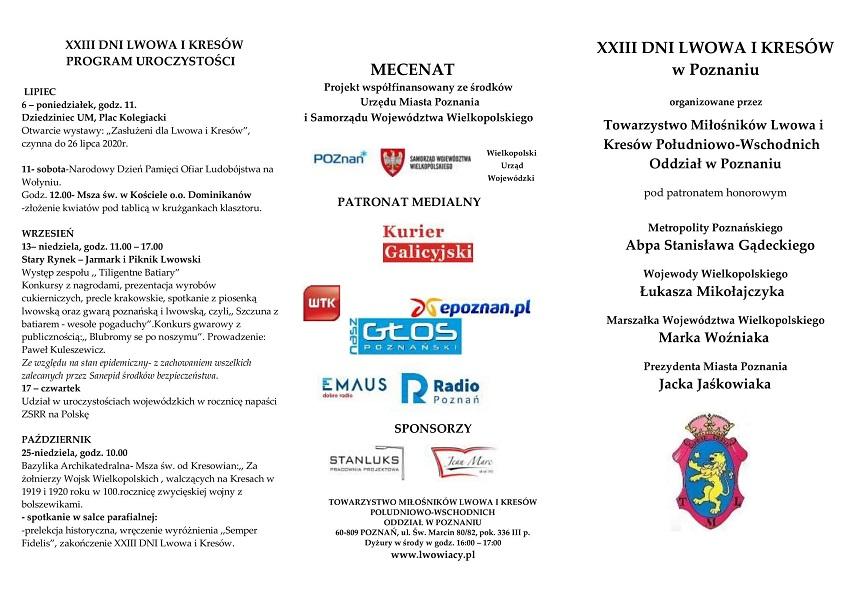 program XIII Dni Lwowa i Kresów - Materiały prasowe