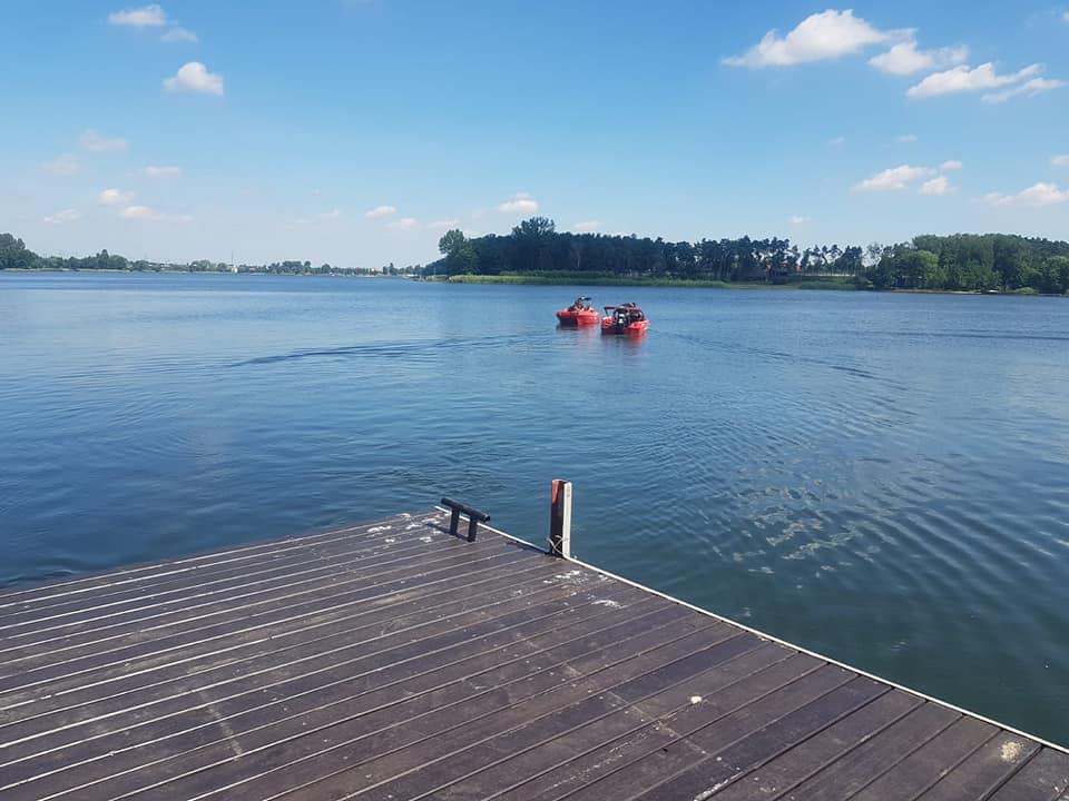 mikorzyńskie jezioro topielec - OSP Ślesin