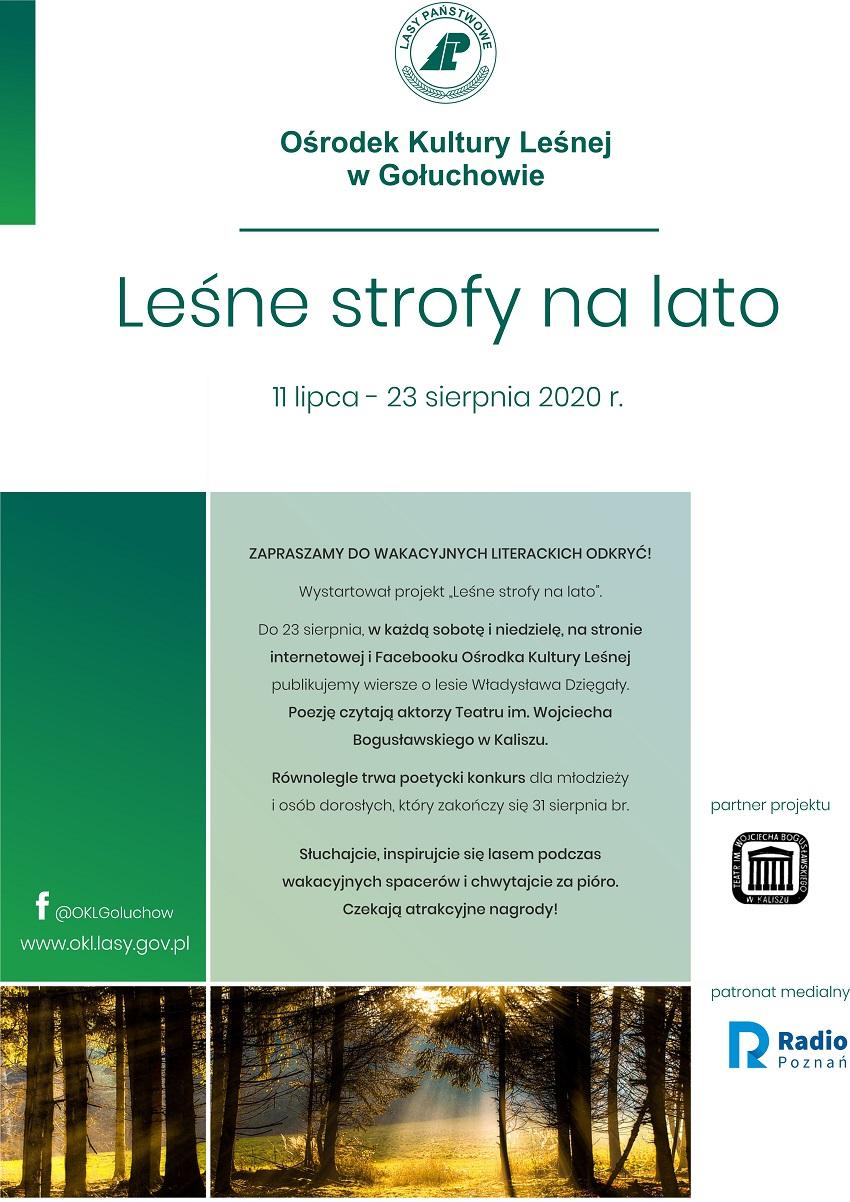 Plakat Leśne strofy na lato - Materiały prasowe