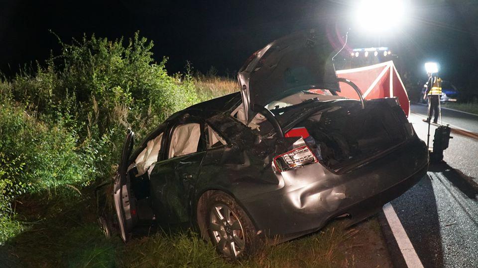 śmiertelny wypadek ligota - OSP Kobyla Góra
