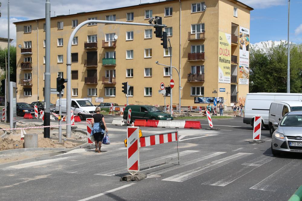 budowa ścieżki rowerowej wzdłuż ulicy Grunwaldzkiej w Poznaniu - Leon Bielewicz