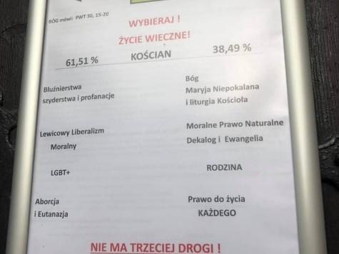 plakat Koscian fara prymas  - Jacek Marciniak