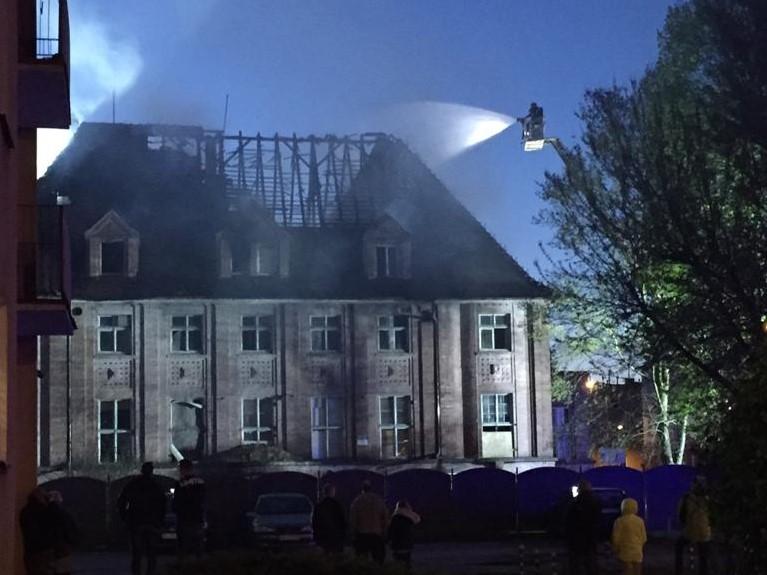pożar buydnku okrzei piła - KPP Piła