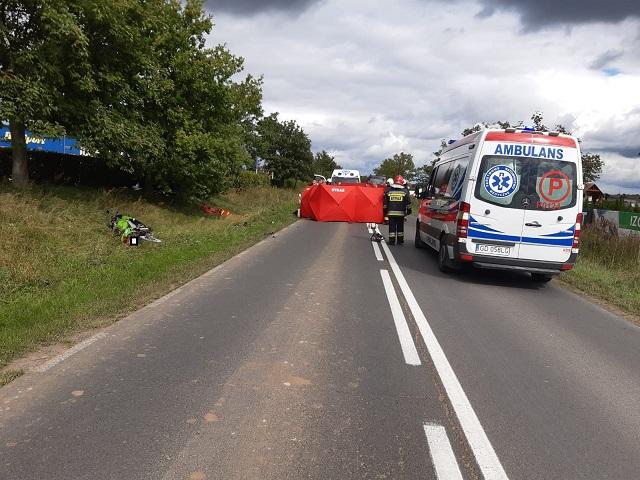 wypadek rowerzystki błękwit klukowo - KP PSP Złotów