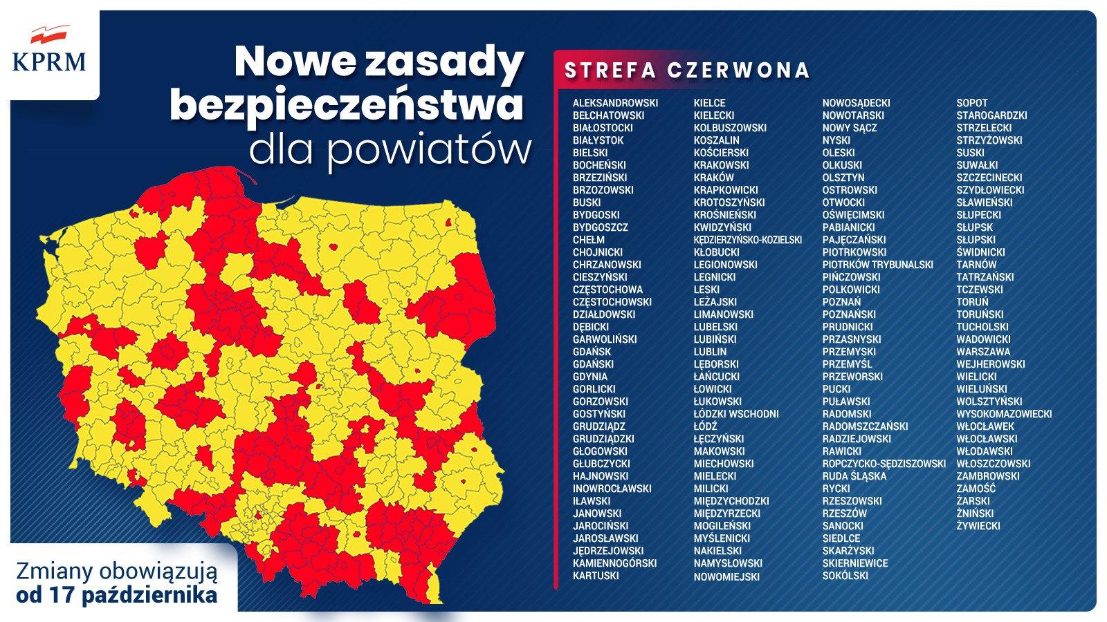 strefa czerwona mapa - KPRM