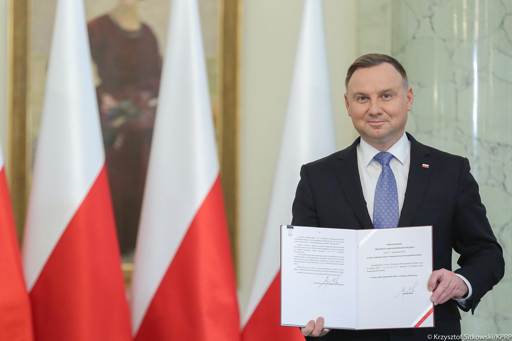 Prezydent podpisał ustawę powołującą Fundusz Medyczny - KPRP