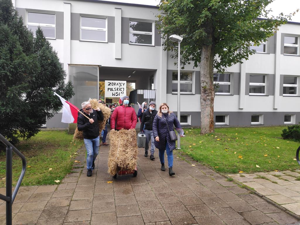 protesty rolnicze piła - Przemysław Stochaj